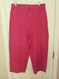 St.Johns Bay Vintage Red/White Capris Size 12